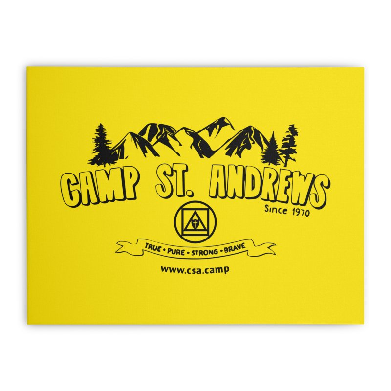 Camp St. Andrews Mountains Home Stretched Canvas by Camp St. Andrews