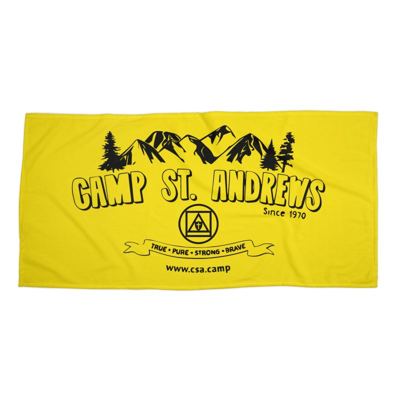 Camp St. Andrews Mountains Accessories Beach Towel by Camp St. Andrews