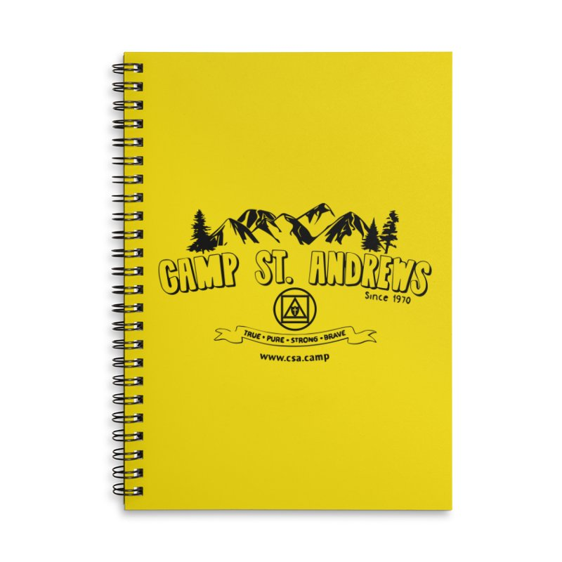 Camp St. Andrews Mountains Accessories Lined Spiral Notebook by Camp St. Andrews