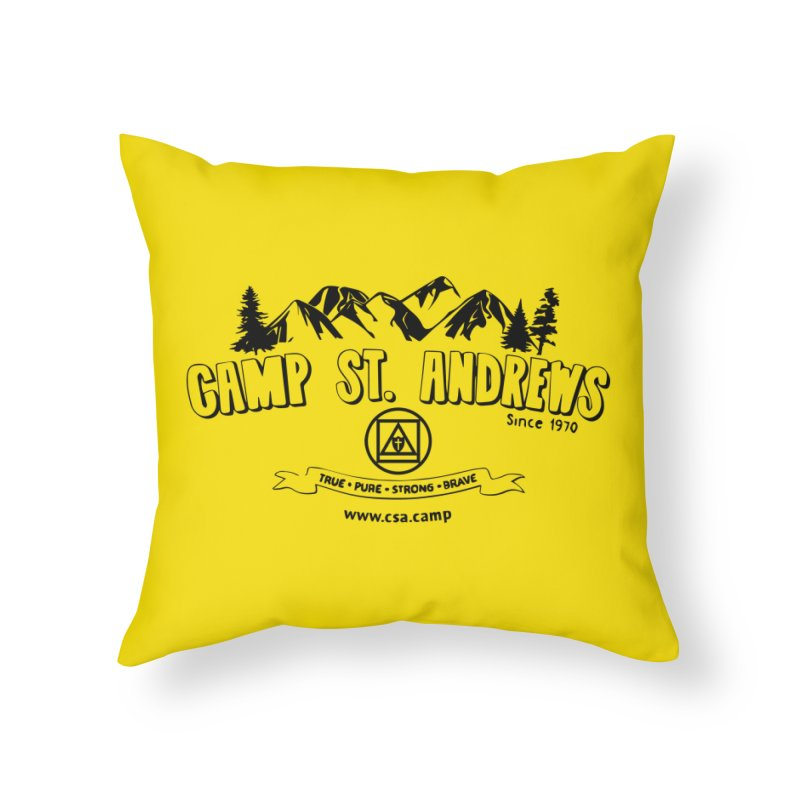 Camp St. Andrews Mountains Home Throw Pillow by Camp St. Andrews