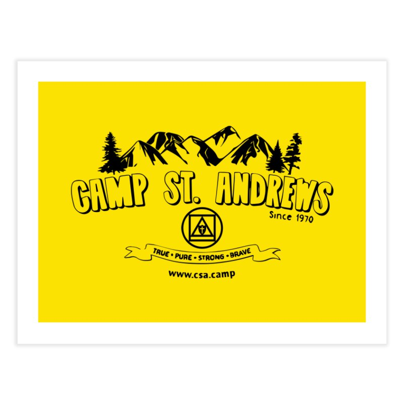 Camp St. Andrews Mountains Home Fine Art Print by Camp St. Andrews