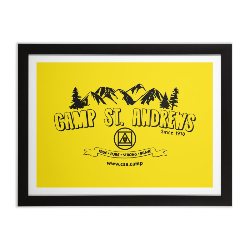 Camp St. Andrews Mountains Home Framed Fine Art Print by Camp St. Andrews