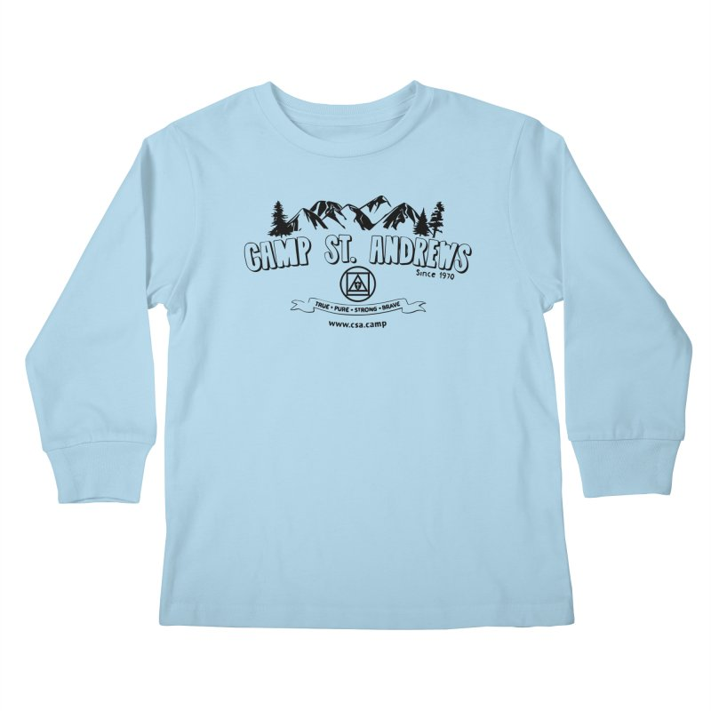 Camp St. Andrews Mountains Kids Longsleeve T-Shirt by Camp St. Andrews