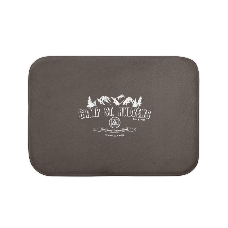 Camp St. Andrews Mountains (white) Home Bath Mat by Camp St. Andrews