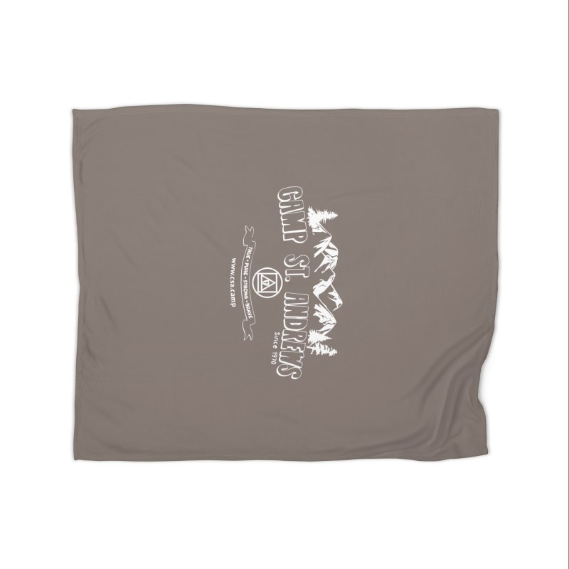 Camp St. Andrews Mountains (white) Home Fleece Blanket Blanket by Camp St. Andrews