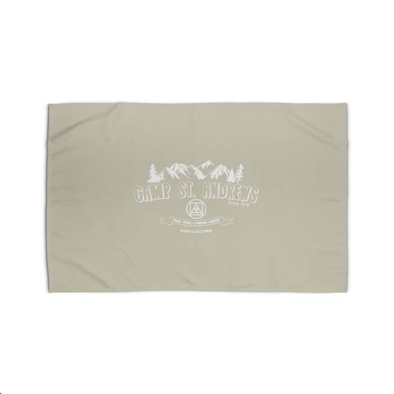 Camp St. Andrews Mountains (white) Home Rug by Camp St. Andrews