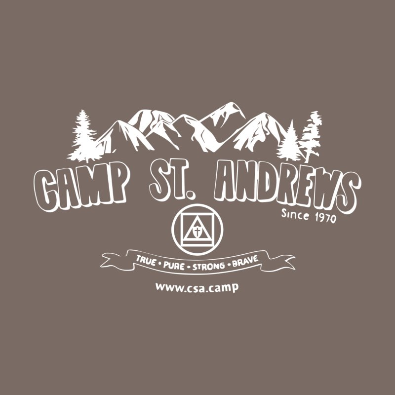 Camp St. Andrews Mountains (white) Women's Scoop Neck by Camp St. Andrews