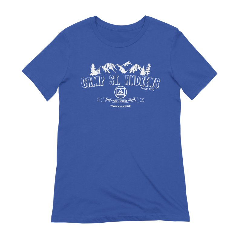 Camp St. Andrews Mountains (white) Women's Extra Soft T-Shirt by Camp St. Andrews
