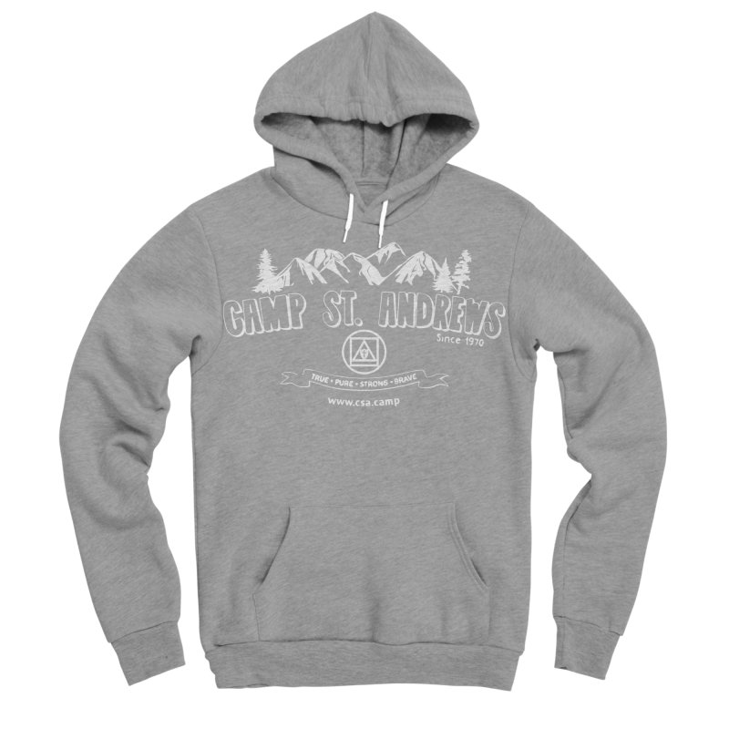 Camp St. Andrews Mountains (white) Women's Sponge Fleece Pullover Hoody by Camp St. Andrews