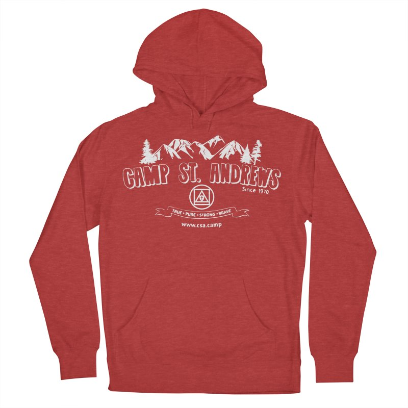 Camp St. Andrews Mountains (white) Women's French Terry Pullover Hoody by Camp St. Andrews