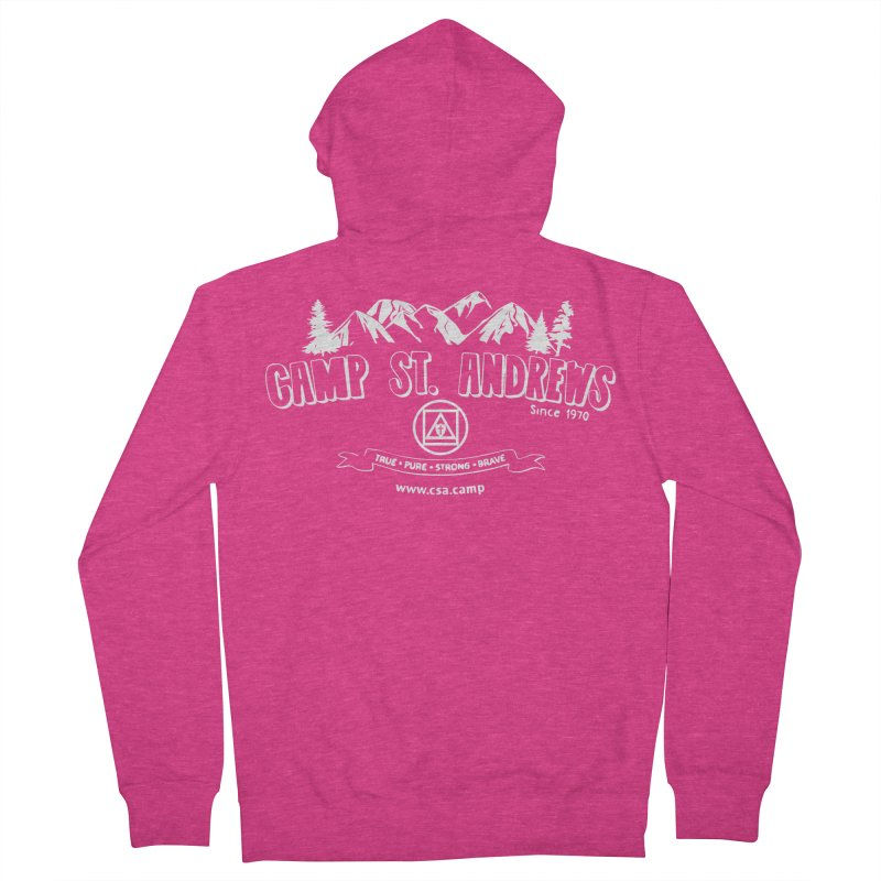 Camp St. Andrews Mountains (white) Women's French Terry Zip-Up Hoody by Camp St. Andrews