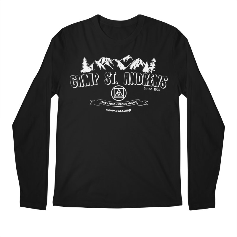 Camp St. Andrews Mountains (white) Men's Regular Longsleeve T-Shirt by Camp St. Andrews
