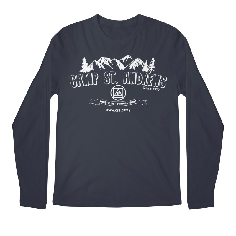 Camp St. Andrews Mountains (white) Men's Longsleeve T-Shirt by Camp St. Andrews