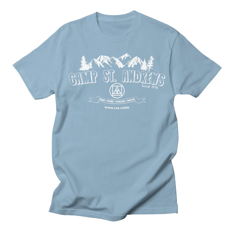 Camp St. Andrews Mountains (white) Men's T-shirt by Camp St. Andrews