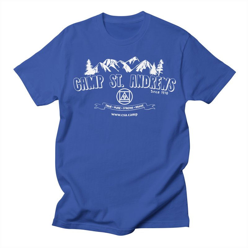 Camp St. Andrews Mountains (white) Women's Unisex T-Shirt by Camp St. Andrews