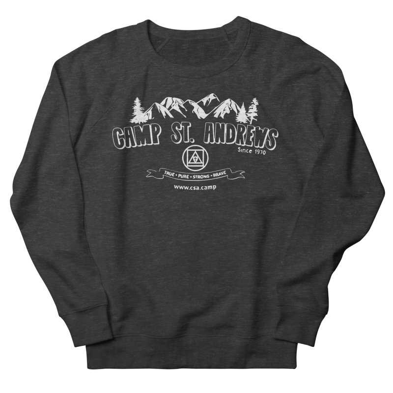 Camp St. Andrews Mountains (white) Men's French Terry Sweatshirt by Camp St. Andrews