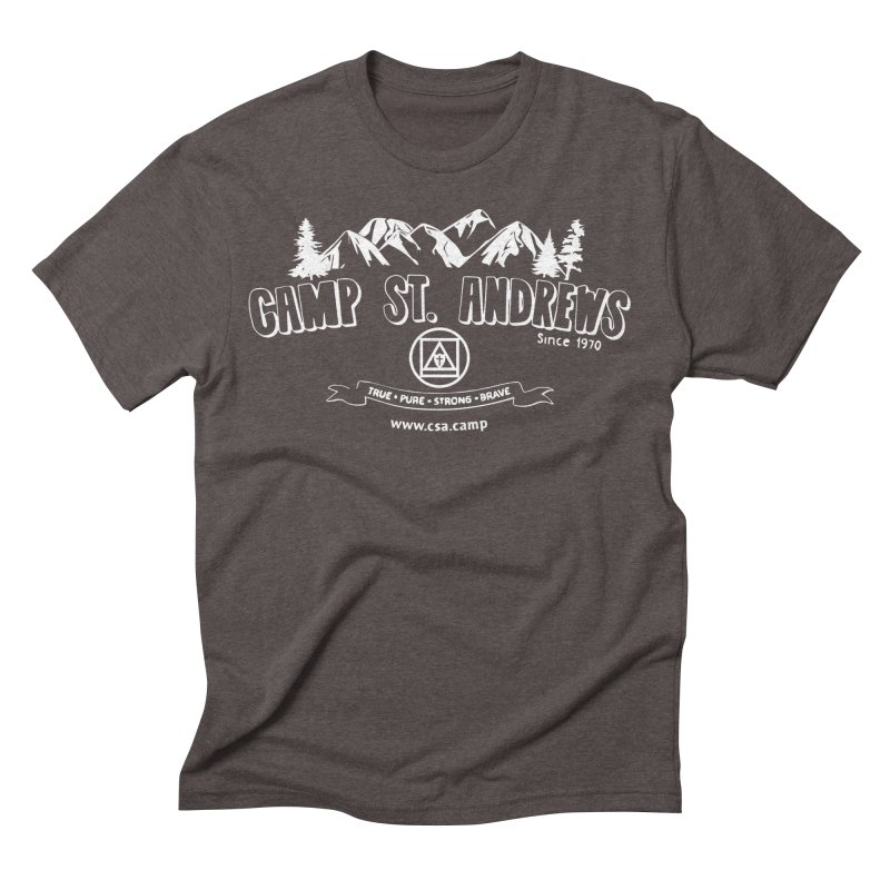 Camp St. Andrews Mountains (white) Men's Triblend T-Shirt by Camp St. Andrews