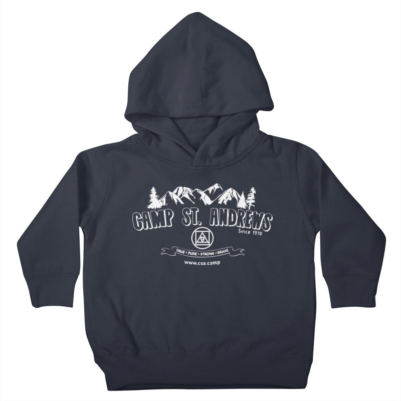 Camp St. Andrews Mountains (white) Kids Toddler Pullover Hoody by Camp St. Andrews