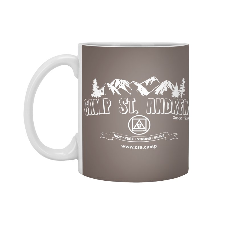Camp St. Andrews Mountains (white) Accessories Standard Mug by Camp St. Andrews