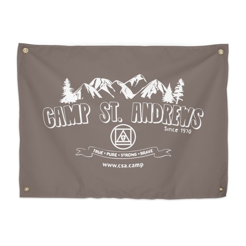 Camp St. Andrews Mountains (white) Home Tapestry by Camp St. Andrews
