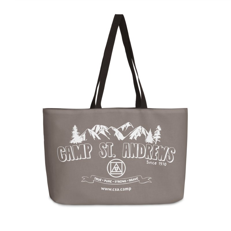 Camp St. Andrews Mountains (white) Accessories Weekender Bag Bag by Camp St. Andrews