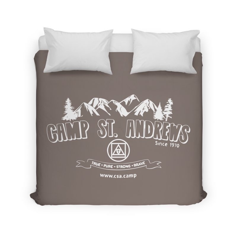 Camp St. Andrews Mountains (white) Home Duvet by Camp St. Andrews