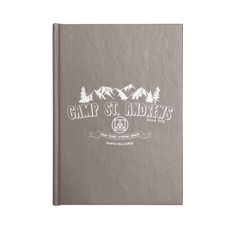 Camp St. Andrews Mountains (white) Accessories Lined Journal Notebook by Camp St. Andrews