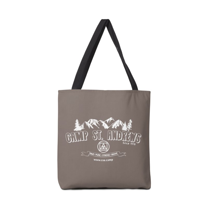 Camp St. Andrews Mountains (white) Accessories Tote Bag Bag by Camp St. Andrews