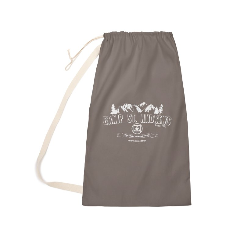 Camp St. Andrews Mountains (white) Accessories Laundry Bag Bag by Camp St. Andrews