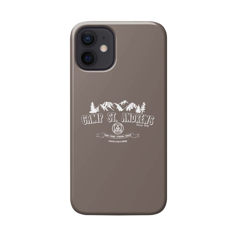 Camp St. Andrews Mountains (white) Accessories Phone Case by Camp St. Andrews
