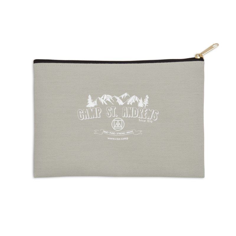 Camp St. Andrews Mountains (white) Accessories Zip Pouch by Camp St. Andrews