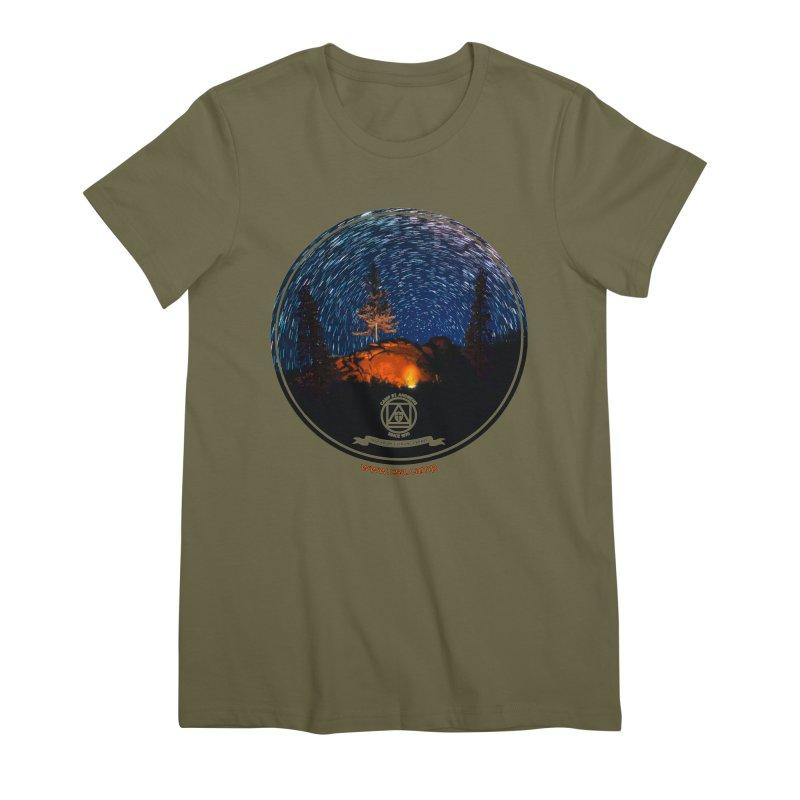 Campfire Starswirl Women's Premium T-Shirt by Camp St. Andrews