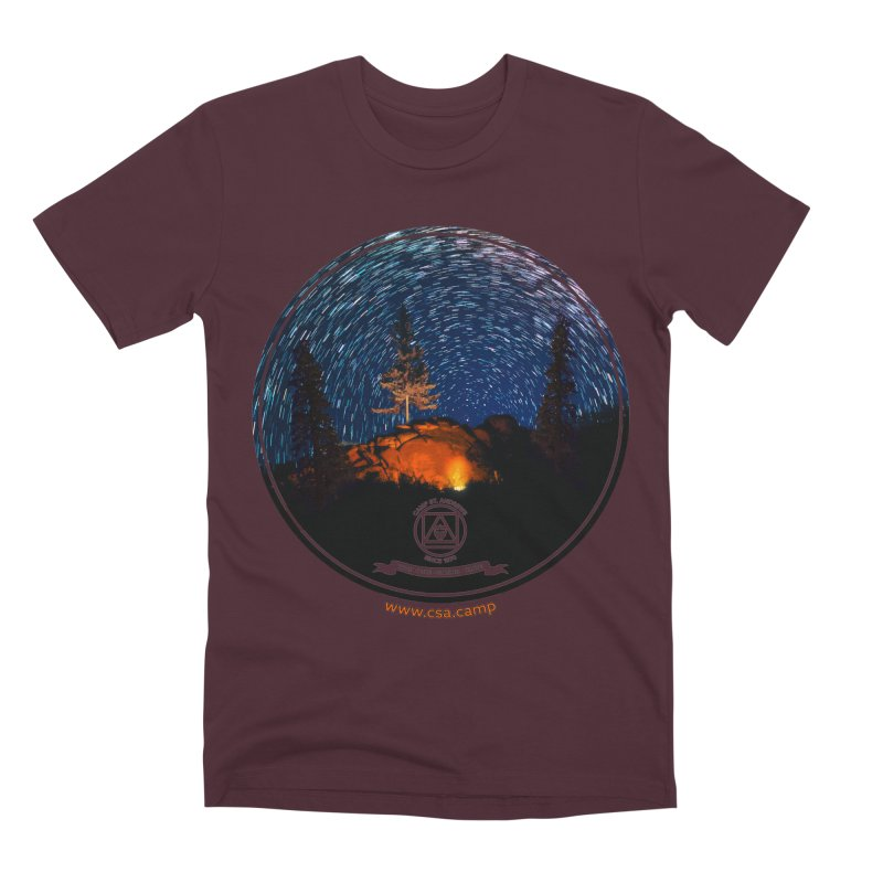 Campfire Starswirl Men's Premium T-Shirt by Camp St. Andrews