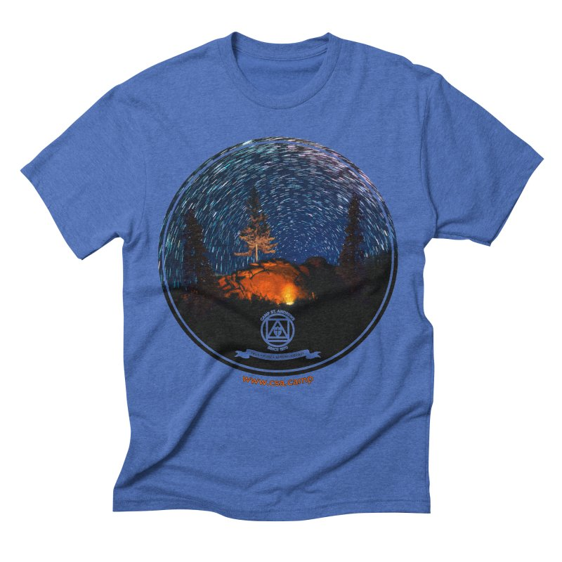 Campfire Starswirl Men's Triblend T-Shirt by Camp St. Andrews