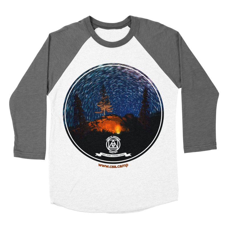 Campfire Starswirl Men's Baseball Triblend Longsleeve T-Shirt by Camp St. Andrews