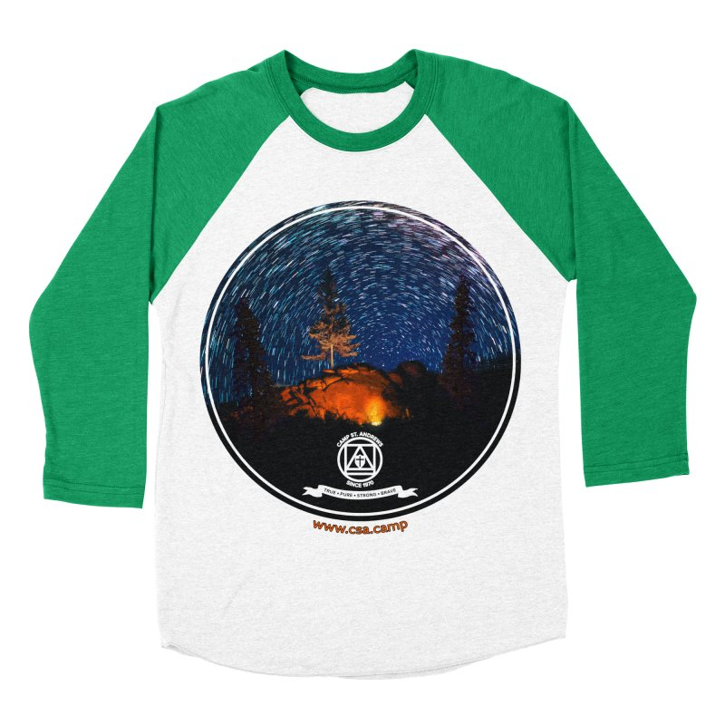 Campfire Starswirl Men's Baseball Triblend Longsleeve T-Shirt by Camp St. Andrews