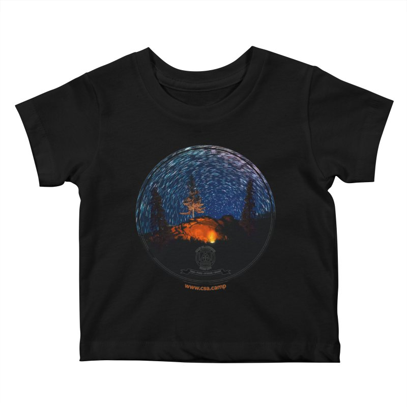 Campfire Starswirl Kids Baby T-Shirt by Camp St. Andrews