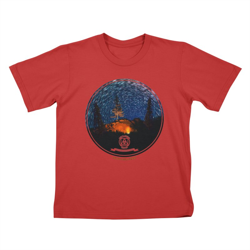 Campfire Starswirl Kids T-Shirt by Camp St. Andrews