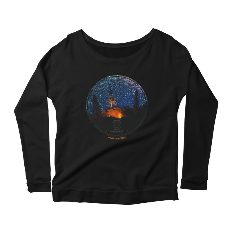 Campfire Starswirl Women's Scoop Neck Longsleeve T-Shirt by Camp St. Andrews