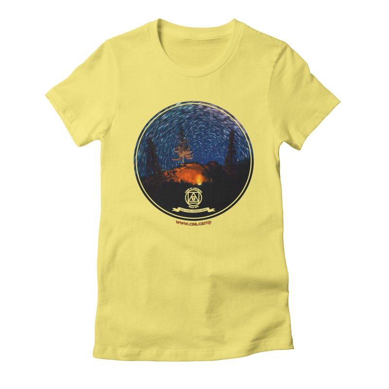 Campfire Starswirl Women's Fitted T-Shirt by Camp St. Andrews