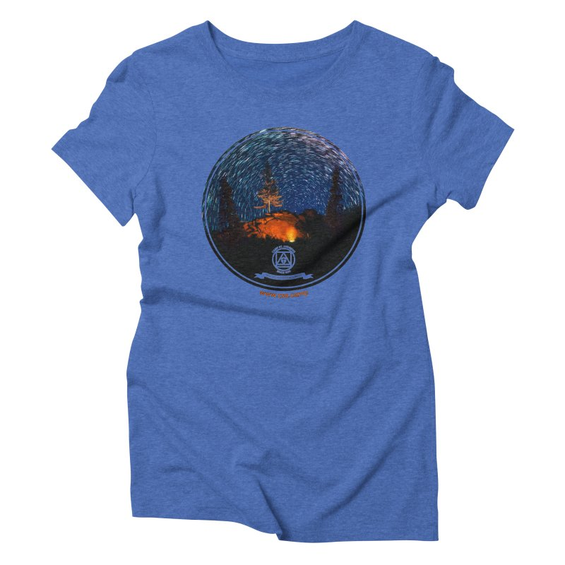 Campfire Starswirl Women's Triblend T-Shirt by Camp St. Andrews