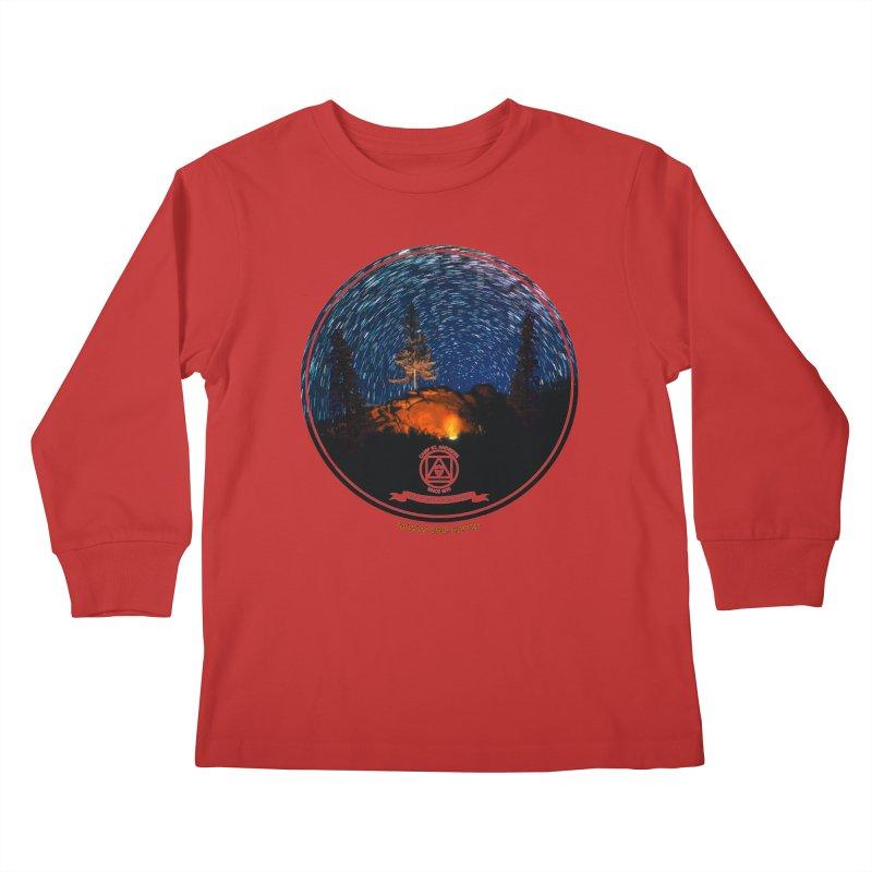 Campfire Starswirl Kids Longsleeve T-Shirt by Camp St. Andrews