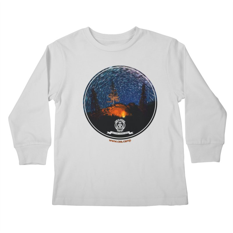 Campfire Starswirl Kids Longsleeve T-Shirt by Camp St. Andrews