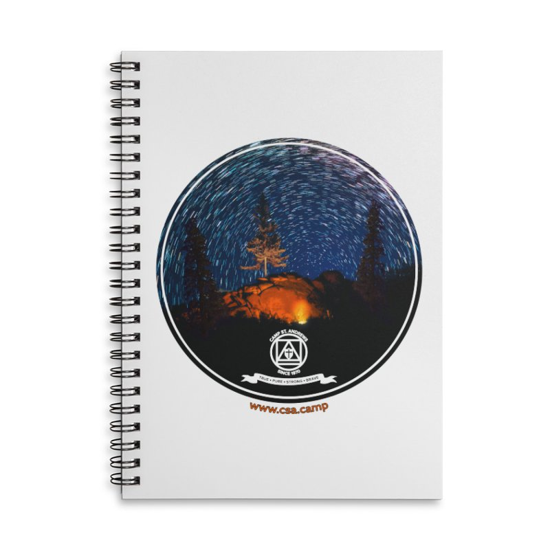 Campfire Starswirl Accessories Lined Spiral Notebook by Camp St. Andrews