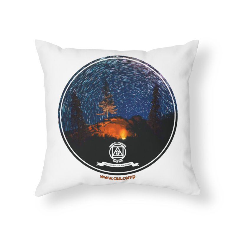 Campfire Starswirl Home Throw Pillow by Camp St. Andrews