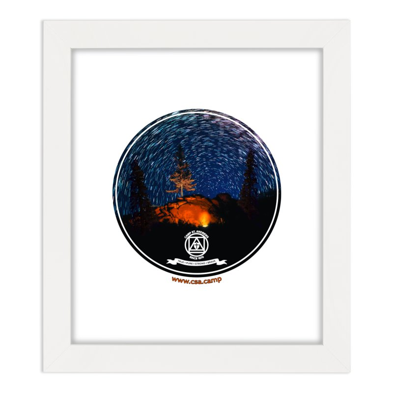 Campfire Starswirl Home Framed Fine Art Print by Camp St. Andrews