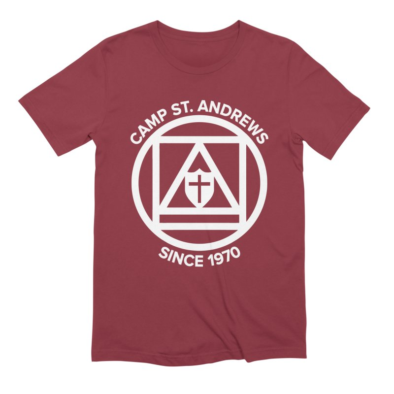 CSA Scarf Symbol Men's Extra Soft T-Shirt by Camp St. Andrews