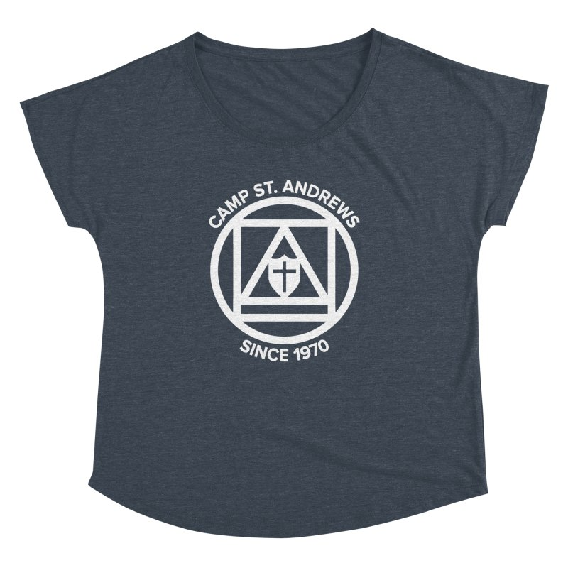 CSA Scarf Symbol Women's Dolman Scoop Neck by Camp St. Andrews