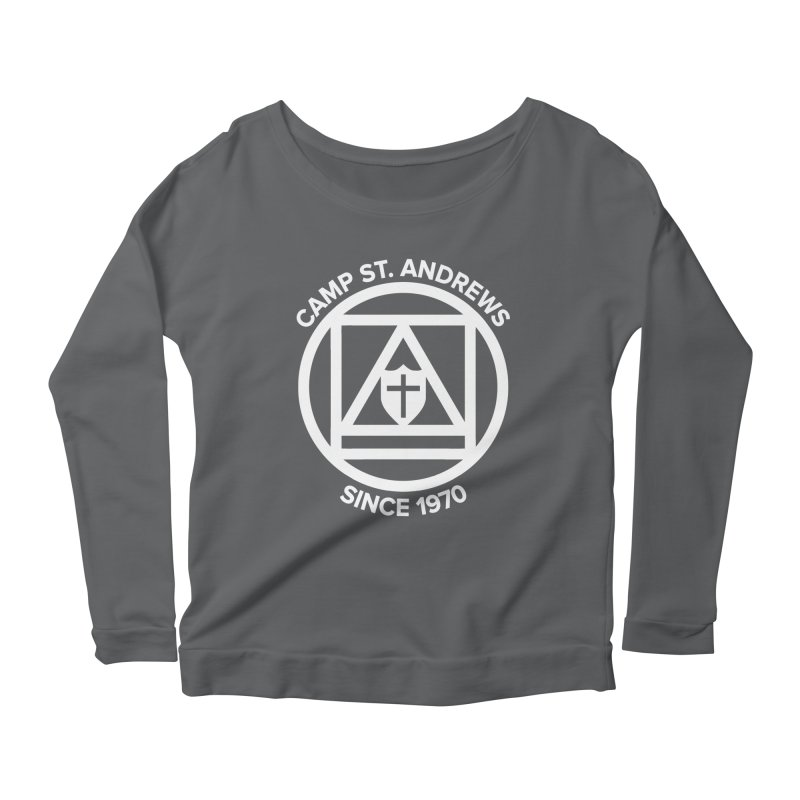 CSA Scarf Symbol Women's Scoop Neck Longsleeve T-Shirt by Camp St. Andrews