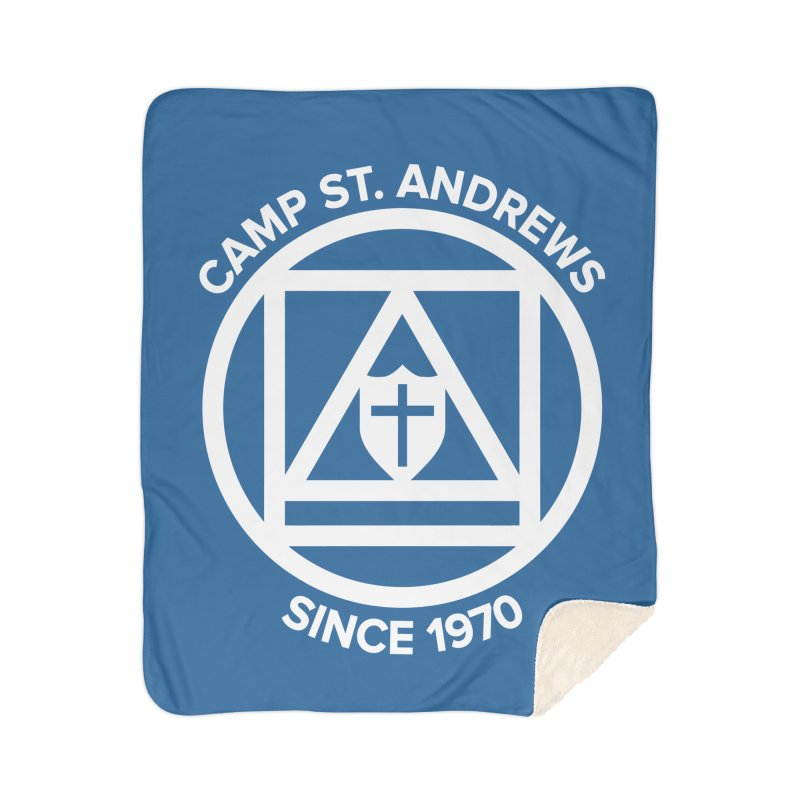 CSA Scarf Symbol Home Sherpa Blanket Blanket by Camp St. Andrews